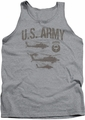 Army tank top Airborne adult heather
