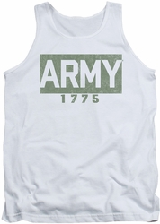 Army tank top Block adult white
