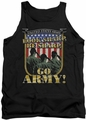 Army tank top Go Army adult black