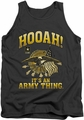 Army tank top Hooah adult charcoal