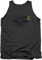 Army tank top Left Chest adult charcoal
