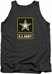 Army tank top Logo adult charcoal