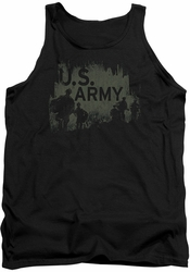 Army tank top Soilders adult black