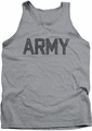 Army tank top Star adult athletic heather