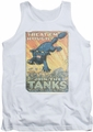 Army tank top Treat Em Rough adult white