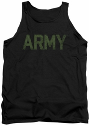 Army tank top Type adult black