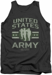 Army tank top United States Army adult charcoal