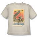 Army youth teen t-shirt Action Poster cream/ivory