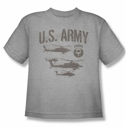 Army youth teen t-shirt Airborne heather