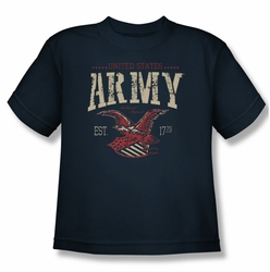 Army youth teen t-shirt Arch navy