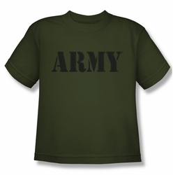 Army youth teen t-shirt Army military green
