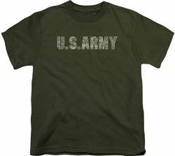 Army youth teen t-shirt Camo military green