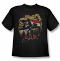 Army youth teen t-shirt Duty Honor Country black