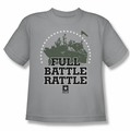 Army youth teen t-shirt Full Battle Rattle silver