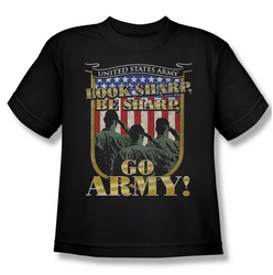 Army youth teen t-shirt Go Army black