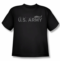 Army youth teen t-shirt Helicopter black