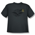 Army youth teen t-shirt Left Chest charcoal