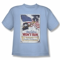 Army youth teen t-shirt Pearl Harbor light blue