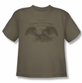 Army youth teen t-shirt Property Of safari green