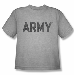 Army youth teen t-shirt Star athletic heather