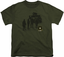 Army youth teen t-shirt Strong military green