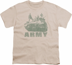 Army youth teen t-shirt Tank cream