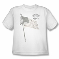 Army youth teen t-shirt Tristar white