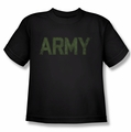 Army youth teen t-shirt Type black