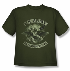 Army youth teen t-shirt Union Eagle military green