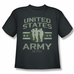 Army youth teen t-shirt United States Army charcoal