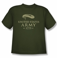Army youth teen t-shirt We'll Defend military green
