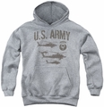 Army youth teen hoodie Airborne athletic heather