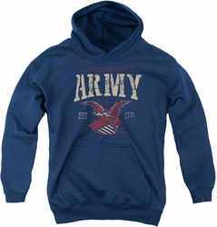 Army youth teen hoodie Arch navy