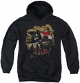 Army youth teen hoodie Duty Honor Country black
