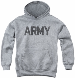 Army youth teen hoodie Star athletic heather