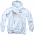 Army youth teen hoodie Tristar white