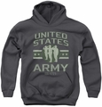 Army youth teen hoodie United States Army charcoal