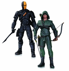 Arrow Oliver Queen Deathstroke Action Figure 2 Pack