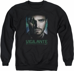 Arrow TV Show on CW adult crewneck sweatshirt Good Eye black