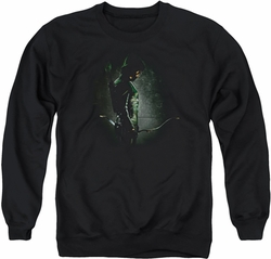 Arrow TV Show on CW adult crewneck sweatshirt In The Shadows black