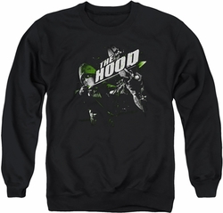 Arrow TV Show on CW adult crewneck sweatshirt Take Aim black