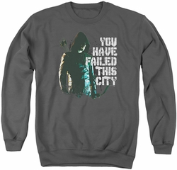 Arrow TV Show on CW adult crewneck sweatshirt You Have Failed charcoal
