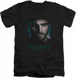 Arrow TV Show on CW Good Eye mens black v-neck t-shirt