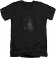 Arrow TV Show on CW In The Shadows mens black v-neck t-shirt