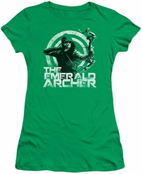 Arrow TV Show on CW juniors t-shirt Archer kelly green