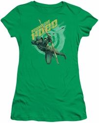 Arrow TV Show on CW juniors t-shirt Beware kelly green