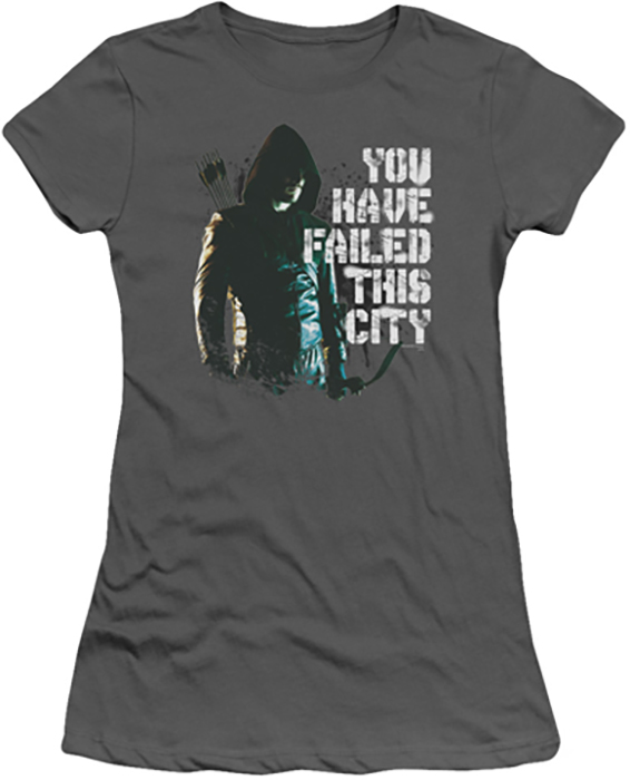 Arrow Tv Show On Cw Juniors T Shirt You Have Failed Charcoal