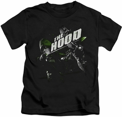 Arrow TV Show on CW kids t-shirt Take Aim black