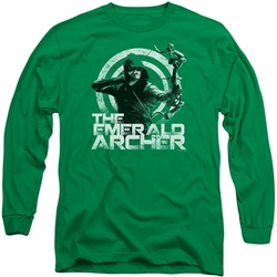 Arrow TV Show on CW long-sleeved shirt Archer kelly green