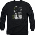 Arrow TV Show on CW long-sleeved shirt Save My City black